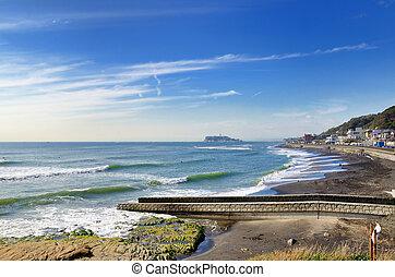 visível,  inamuragasaki, litoral, capa