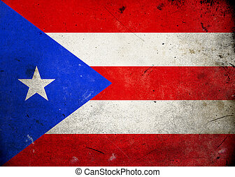 Grunge Flag Puerto Rico - Flag on old and vintage grunge...