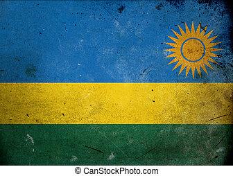 Grunge Flag Rwanda