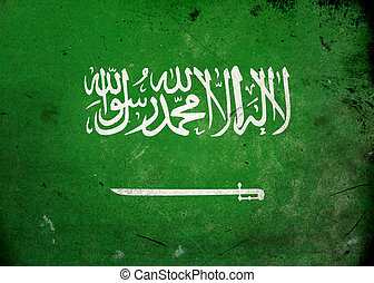 Grunge Flag Saudi Arabia - Flag on old and vintage grunge...