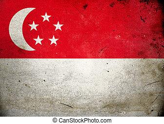 Grunge Flag Singapore