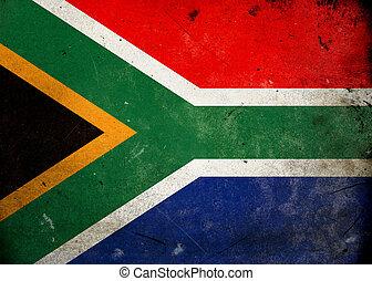 Grunge Flag South Africa - Flag on old and vintage grunge...