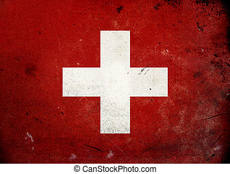 Grunge Flag Switzerland