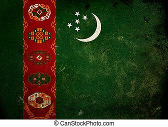 Grunge Flag Turkmenistan