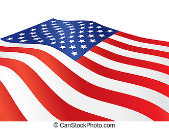 United States of America flag - close up of United States of...
