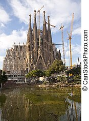 Sagrada Familia - Temple of the Sagrada Familia in...