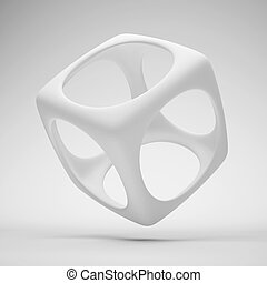 Design Element - 3d Illustration of White Design Element or...