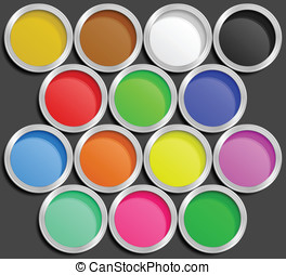 Vector illustration of paint cans