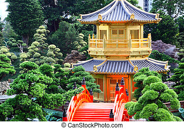 Pavilion of Absolute Perfection in the Nan Lian Garden, Hong Kong.