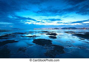 sunset shingle coast in hong kong