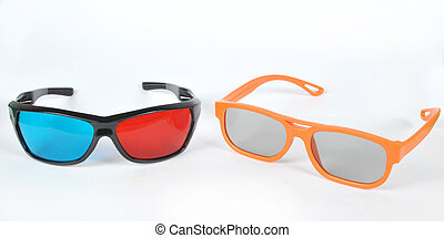 3D glasses - Polarized and anaglyph 3D glasses