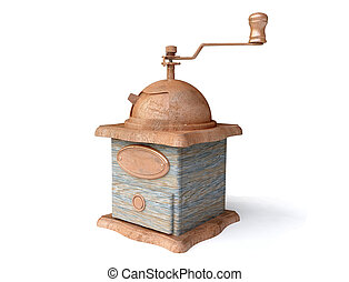 Vintage Coffee Mill - Old Vintage Coffee Mill in 3D