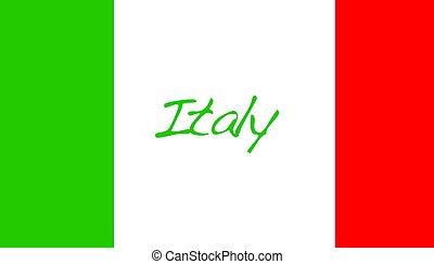 Italy. - Flag Italy.