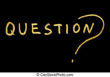 Question text conception