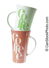 Coffee Mugs on White Background
