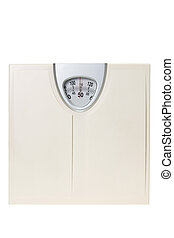 Weight Scale on White Background