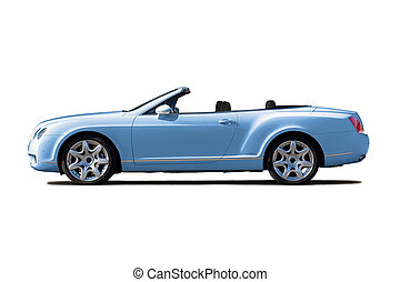 Light blue cabriolet