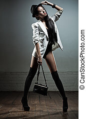 Young japanese woman fashion - Young sexy japanese woman...
