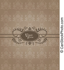 Beautiful Retro Card - for invitation, greetings, congratulation, wedding in vector
