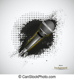 abstract music background. Vector illustration. Eps 10