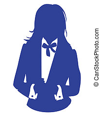 business woman blue suit avatar
