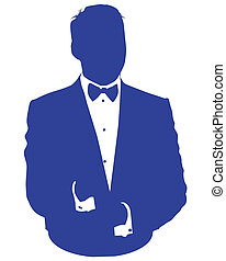business man avatar in blue suit