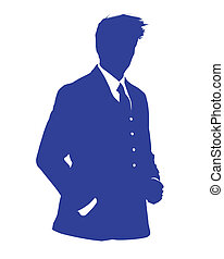 business man blue avatar