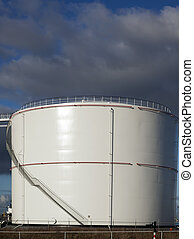 oil tank with blue sky
