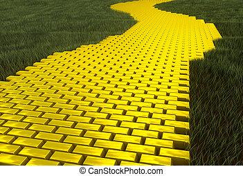Yellow brick road Stock Illustration Images. 167 Yellow ...