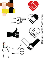 hand sign - Vector illustration of hand sign collection