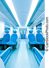Train interior - Inside a train without persons