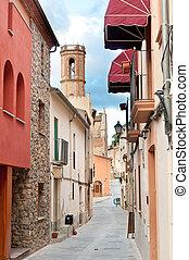 Medieval street, Spain - Old medieval street in Spain near...