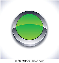 Glossy 3d button.