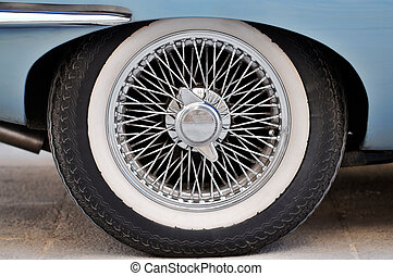 Sports Car Wheel - An English Classic Sports Car wire wheel...