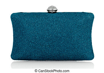 Clutch bag - Elegant blue clutch bag