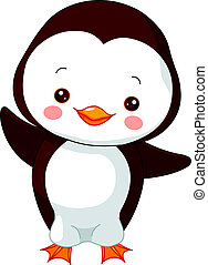 Fun zoo. Penguin - Fun zoo. Illustration of cute Penguin
