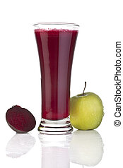 Fresh apple and beetroot juice