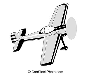 plane drawing on white background, vector illustration