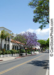 Street at Santa-Barbara - photo of Street at Santa-Barbara,...