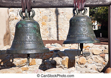 Old Brass Bells Mission San Juan Capistrano Churchand Ruins...