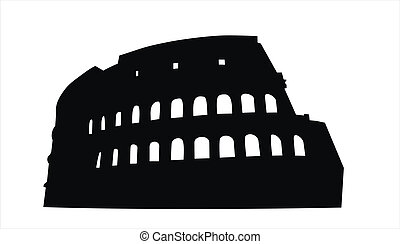 Colosseum - very big size Colosseum black silhouette...