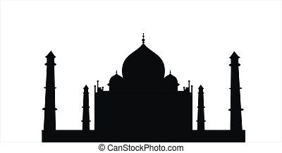 taj mahal - very big size taj mahal black silhouette...