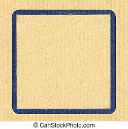 Blue frame background - Blue frame on recycled paper...