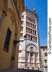 Baptistery. Parma. Emilia-Romagna. Italy.