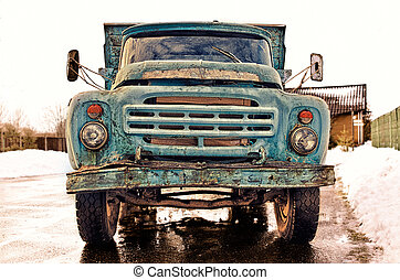Old Truck - Old Blue Truck