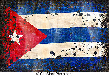 Cuban grunge flag A grunge flag of Cuba