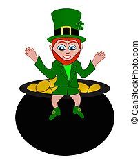 Saint Patricks Day Funny Leprechau
