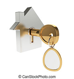 House icon with key