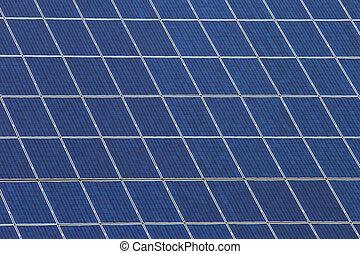 Panels with solar cells - Detail of many panels with solar...