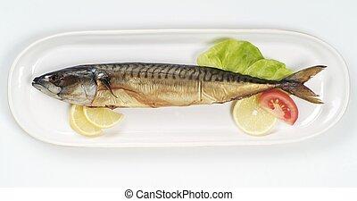 Smoked Mackerel  - Smoked mackerel on a porcelain platter
